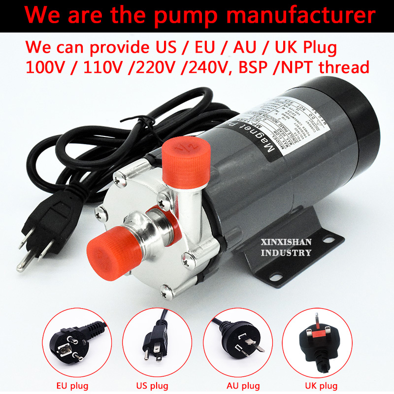 Food Grade Brewing Brewery beer Pump 110V Magnetic Drive Water Pump 15R Home brew Wort Homebrew 304 Stainless steel 140C 1/2BSP estgosz 2300 lumen 2018 u45 led projector uhappy best portable hd usb hdmi tv projector lcd mini proyector 3d home theaterbeamer