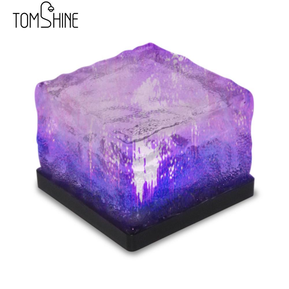 Tomshine 4pcs Waterproof Light Sensor Creative Glass Stone