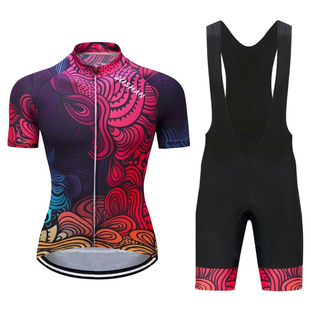 2017 cutom diseño verano Ciclismo Jersey set ropa ciclismo bike ropa Racing Bicicletas con 9d gel acolchado