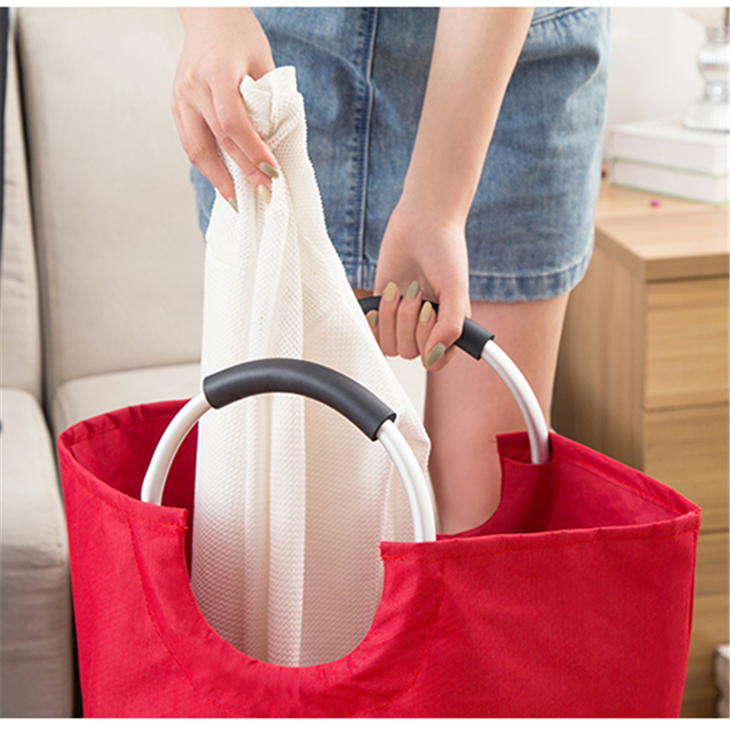 Fabric Laundry Basket Large Hamper Dirty Pouch Folding Laundry Storage Organizer Laundry Bag For Dirty Clothes Bathroom Product in Laundry Bags Baskets from Home Garden