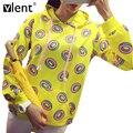 Vlent bts kpop bonito donuts impresso hoodies de patch bolso moda femme puxar camisola das mulheres inverno longo casaco com capuz manga treino