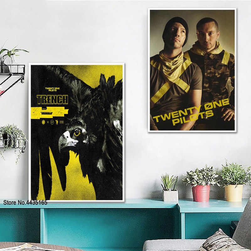 Twenty One Pilots Poster Jumpsuit Rock Music Band Posters and Prints Canvas Painting Wall Art Picture for Living Room Home Decor