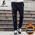 Пионерский Лагерь Хип-хоп бегунов мужчины бренд-одежда мода мужчины густой шерсти брюки мужчины черные тренировочные брюки повседневные брюки мужчины 622125
