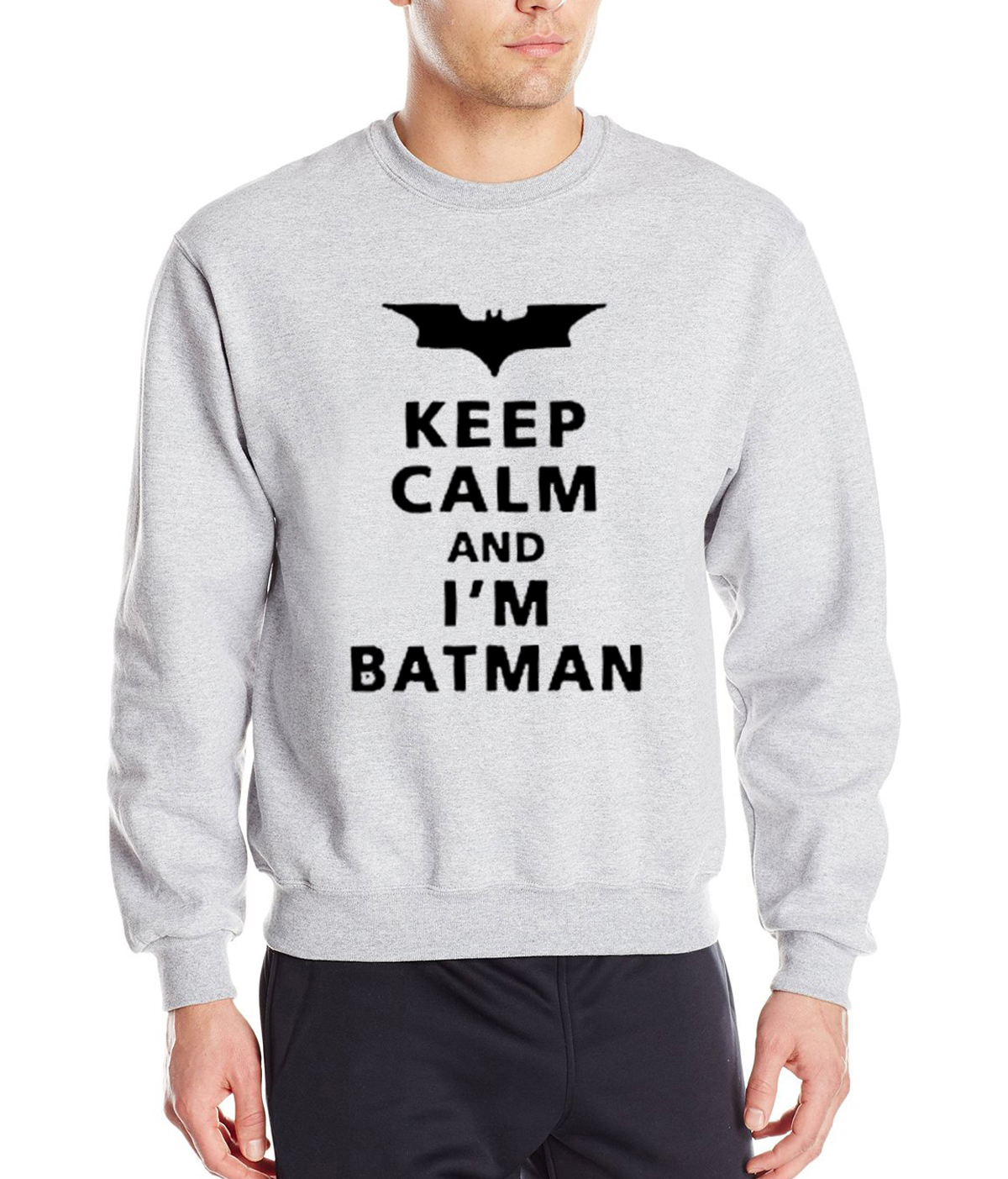 Superman Batman sweatshirt 2019 hot sale spring winter Keep Calm I Am  Batman hoodies hip hop tracksuit fleece brand clothing