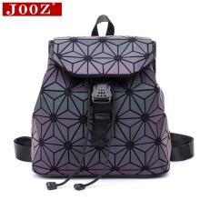 Luminous Stitching Lattice Bag Men Women Backpack for Travel