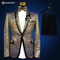 2017 mais novo elegante lantejoulas de ouro homens moda ternos marca jaqueta plus size medieval prince boate fino blazer combina com calças 4xl