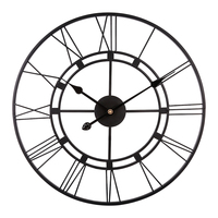 40cm 3D Iron Art Roman Numerals Clock Silent Wall Clock Modern Design Clocks For Home Decor Horloge Murale Black