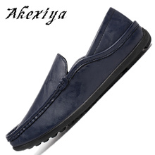 2017 High Quality Hot Sale PU Leather Men Shoes Casual Comfortable Mens Driving Shoes Soft Loafers Business Wedding Mens Flats