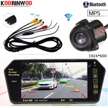 Koorinwoo Wireless Adopter 7 Inch Car Monitor Multi Media System 1024*600 Bluetooth for calling MP5 Car rearview camera Backup