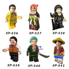 Single Super Hero Building Blocks ONE PIECE Luffy Roronoa Zoro Nami Usopp Sanji Sailor Moon Dragon Ball Figure toys for children(China)