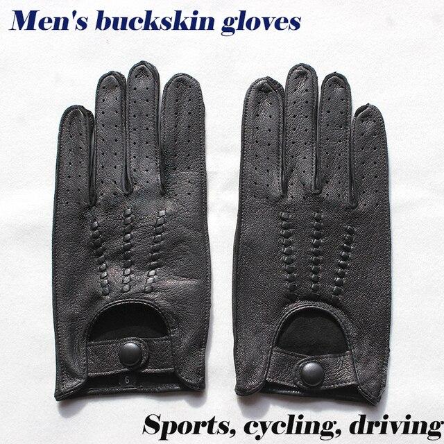 עור צבי כפפות גברים של אופנוע שכבה אחת דק סעיף אופנה חדש אביב קיץ סתיו רוכב אופנוע עור כפפות