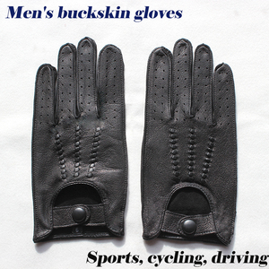 Image 1 - Deerskin gloves mens motorcycle single layer thin section fashion new spring and summer autumn motorcycle rider leather gloves