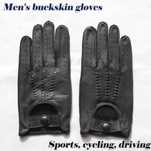 Deerskin rękawiczki męskie motocyklowe jednowarstwowe cienki odcinek moda nowe wiosenne i letnie jesienne motocyklista skórzane rękawiczki