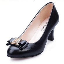 2017 Women Pumps Crystal Shoes Woman zapatos mujer Butterfly-knot high heels Rubber ladies shoes Slip-on womens shoes N192