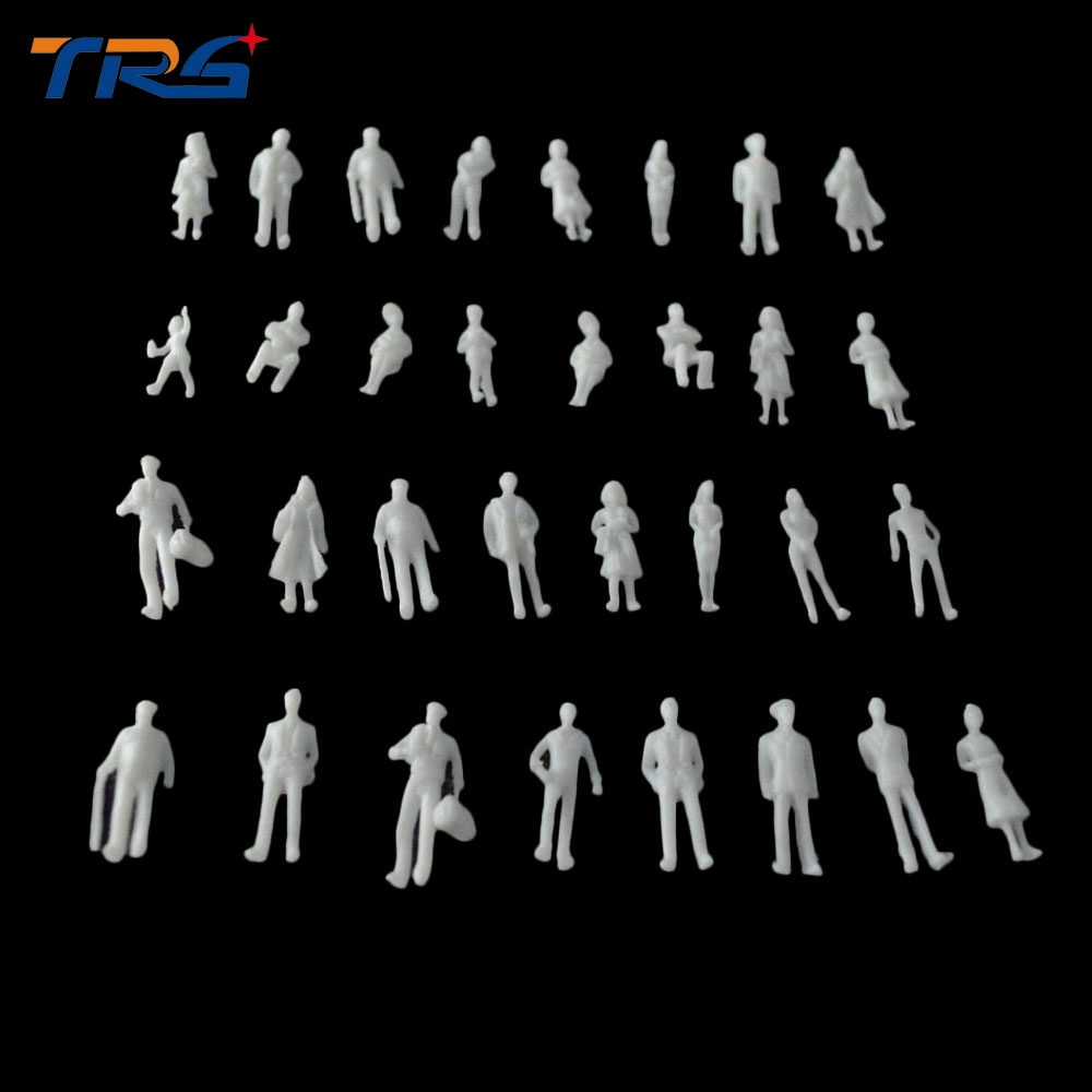 best selling scale model white plastic unpainted people figure in 1:100 for Architecture train layout architecture in use