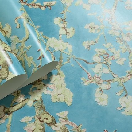 Купить с кэшбэком High Quality American Pastoral Style Wallpaper Retro Apricot Bedroom Living Room Porch TV Background Non-woven Wall Paper Roll