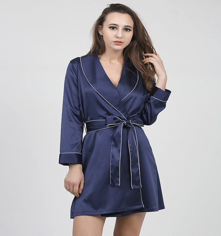 CEARPION Hot Sale Robe Women Rayon Kimono Bathrobe Gown Turn Down ... df952af0a