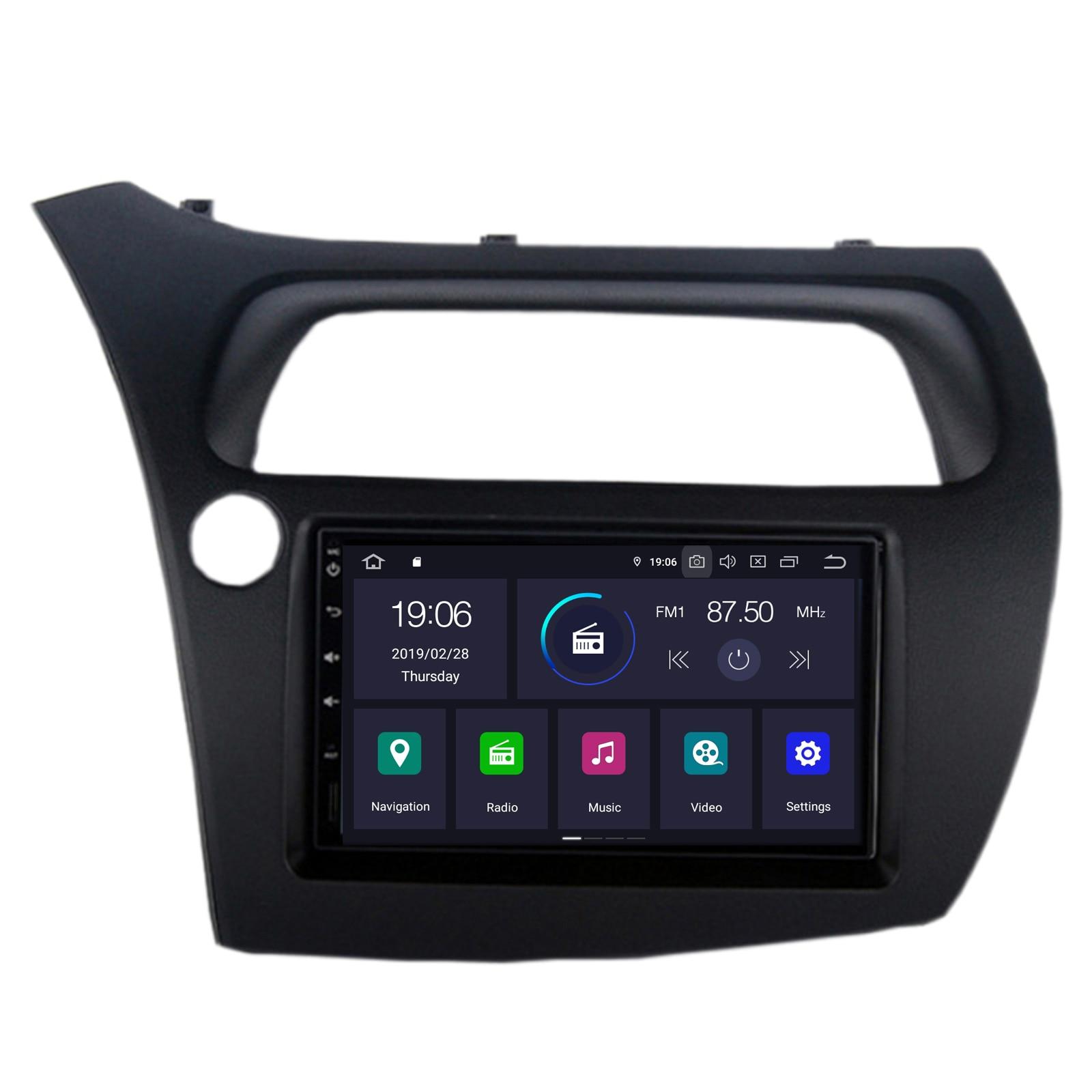 LWheel CARAV 11-467 2Din Car Radio Dash Kit panel for HONDA Civic Sedan 2013+