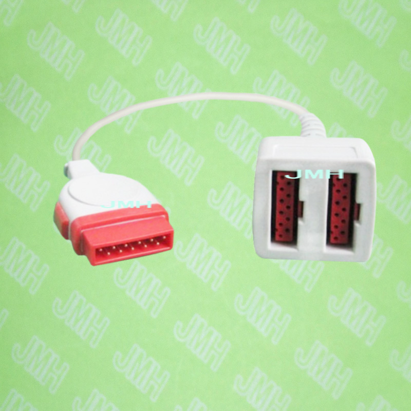 Compatible with GE Solar,Dash,Easgle and Tram the IBP transducer interface cable,11pin male to 11pin*2 female.Compatible with GE Solar,Dash,Easgle and Tram the IBP transducer interface cable,11pin male to 11pin*2 female.