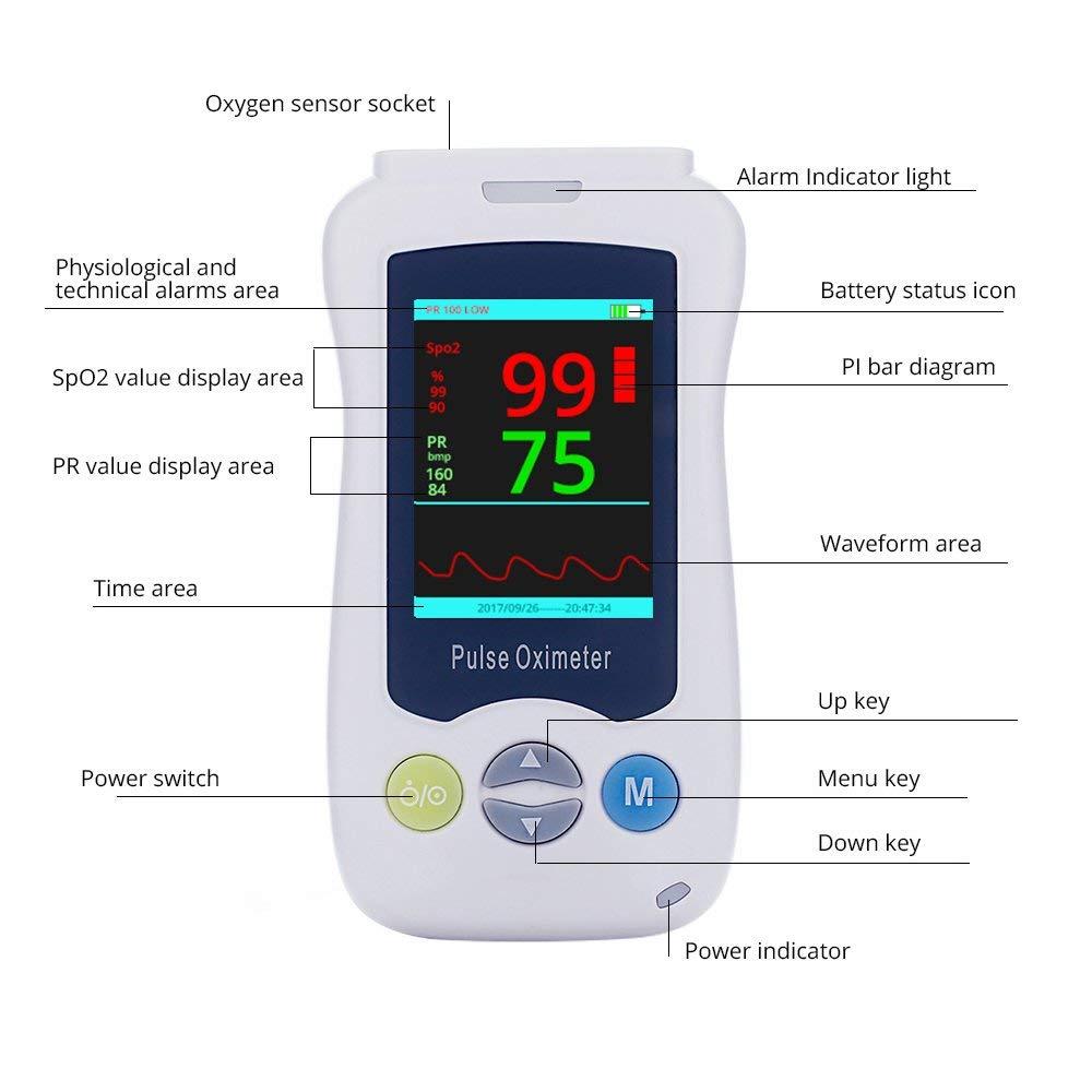 Ручной Bluetooth палец мобильное приложение Пульсоксиметр автоматическая память 24 часа Spo2 PR монитор для взрослых детей Neonate Oximetro CE PDA - 4
