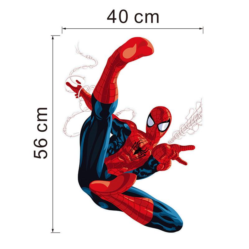 HTB1EswQLXXXXXXsXXXXq6xXFXXXe - Hero Spiderman wall stickers for kids rooms decals home decor Kids Nursery 3D Wall sticker decoration for Boy christmas gift