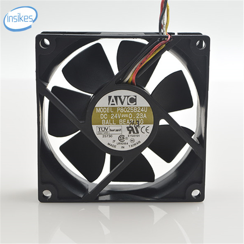 P8025B24U 4 Wires Inverter Industrial Computer Cooling Fan DC 24V 0.23A 4200RPM 8025 80*80*25mm 8cm