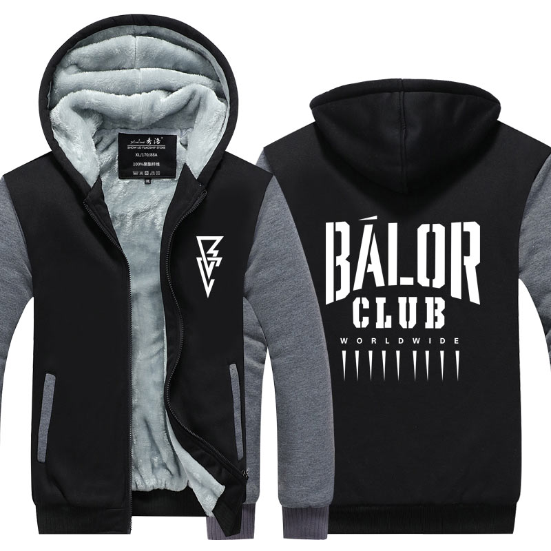 Winter Fashion Thicken Tops Wrestling Finn Balor Club Roman Reigns No One Is Safe Seth Rollins Dean Ambrose Zipper Coats
