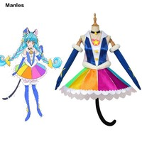 Anime Star Twinkle Pretty Cure Costume Yuni Demon Lord Mao Cosplay Cure Cosmo Blue Cat Carnival Halloween Dress Girl Party