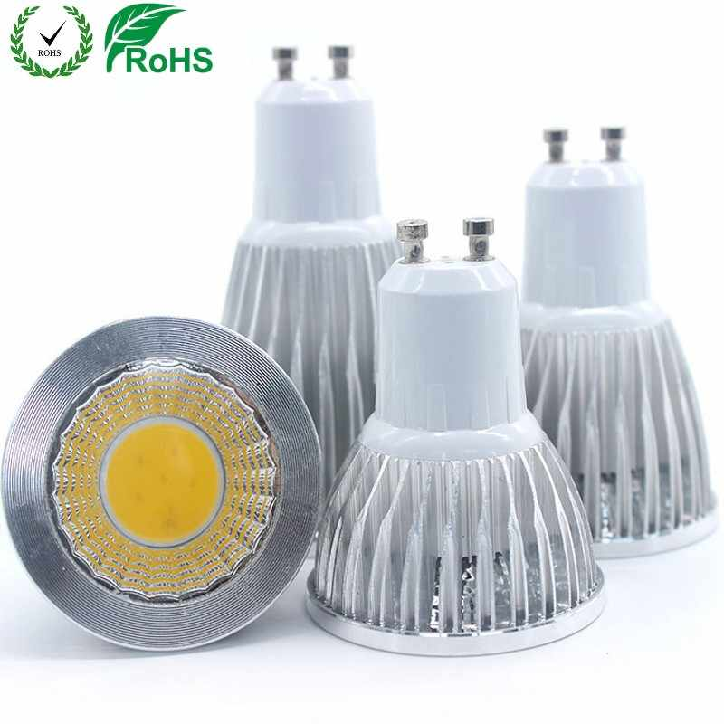 GU10 Bombilla led lámpara regulable decoración ampolla caliente/blanco 220V 9W 12W 15W cob lámpara led GU10 lámpara led
