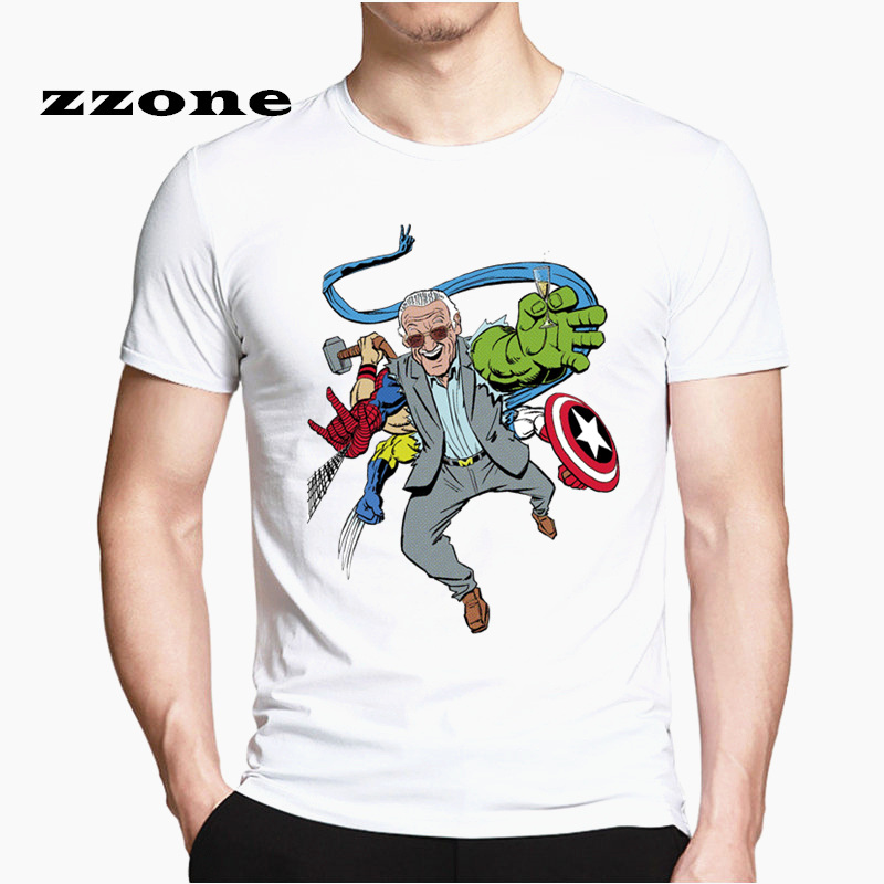 stan lee   T     Shirts   Men Tees Casual Fashion superheroes comics the avengers movie action HCP4533