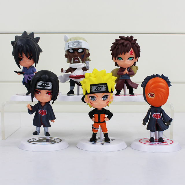 6 Piece Set Naruto Action Figure Kakashi Sakura Sasuke