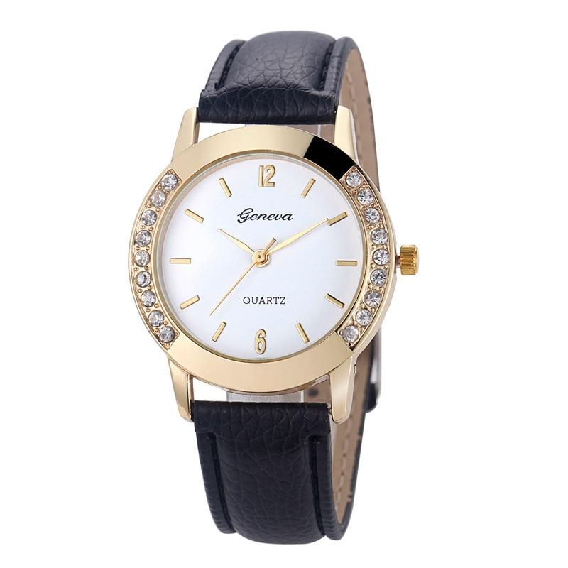 Geneva Wrist Watches Women Watches Famous Brand Female Clock Quartz Watch Ladies Quartz-watch Montre Femme Relogio Feminino