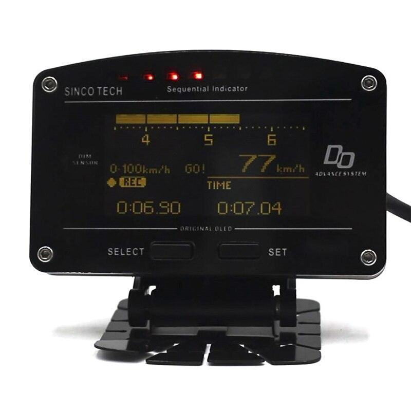 10in 1 Auto Jauge Volt Eau/Huile/Gaz D'échappement Temp Pressions D'huile Rpm Turbo Livraison gratuite Multifonctionnel OLED affichage numérique