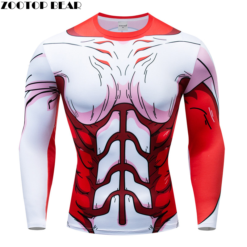 Dragon Ball t shirts Men Compression T-shirts Long Sleeve Tops Anime tshirts 3d Tops Tees Fitness shirts Drop Ship ZOOTOP BEAR