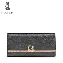 FOXER Brand Women Casual Cluth Bags Famous Luxury Women Purse Leather Wallets For Woman
