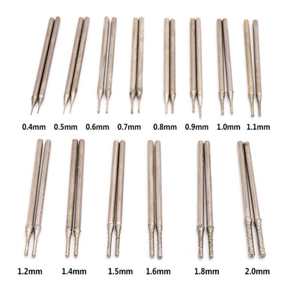 Купить с кэшбэком A type Emergy diamond grinding burr jade stone drill bits teeth grinding bits drilling needle for dremel hanging mill