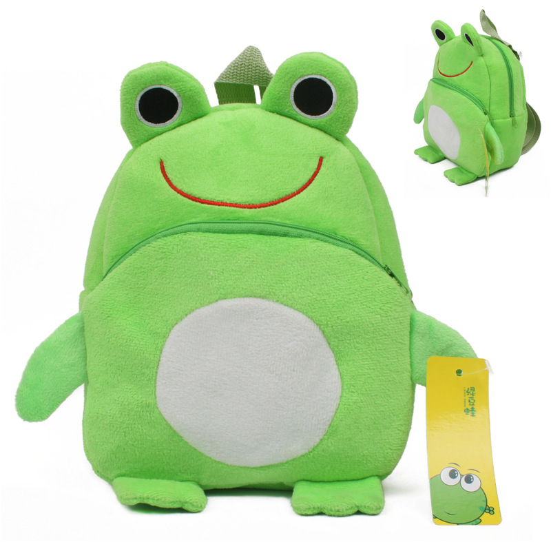 Frog Mini Schoolbag Baby Backpack Mochila Children's Shool Bags Kids Plush Backpack For Birthday Christmas Gift