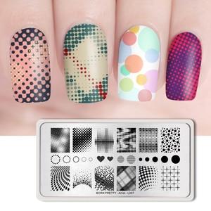 Image 5 - נולד די נייל Stamping צלחות מלבן יופי רב סגנונות נייל ארט תמונת בול תבנית שבלונות לציפורניים הדפסה