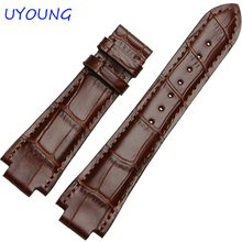 24mm High Quality Genuine Leather Watch Bands For tissot T60 watch Strap For Mens Bracelet Convex interface watchband 14mm