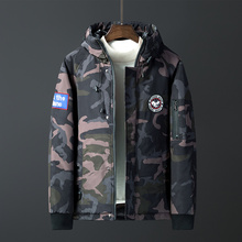 2019 Brand New Casual Warm Winter Down Jacket Men Camouflage Parkas Fashion Hooded Black Coats Plus Size 3XL
