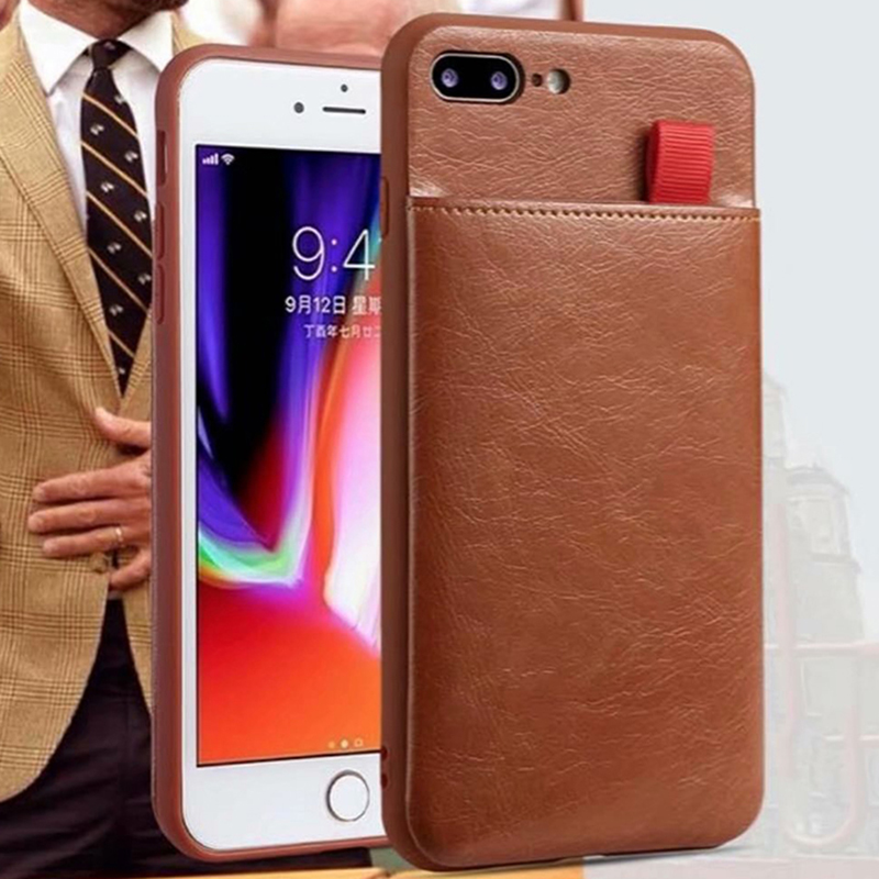 Electronics - Haissky Leather Wallet Phone Case For iPhone X 6 6s 7 8 Plus Case Luxury Pull Type Card Slots Back Cover For iPhone X 10 8 Plus