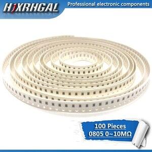 Image 1 - 100Pcs 0805 SMD 1/4W resistore del circuito integrato 0R ~ 10M 0 10R 100R 220R 330R 470R 1K 4.7K 10K 47K 100K 0 10 100 330 470 ohm hjxrhgal