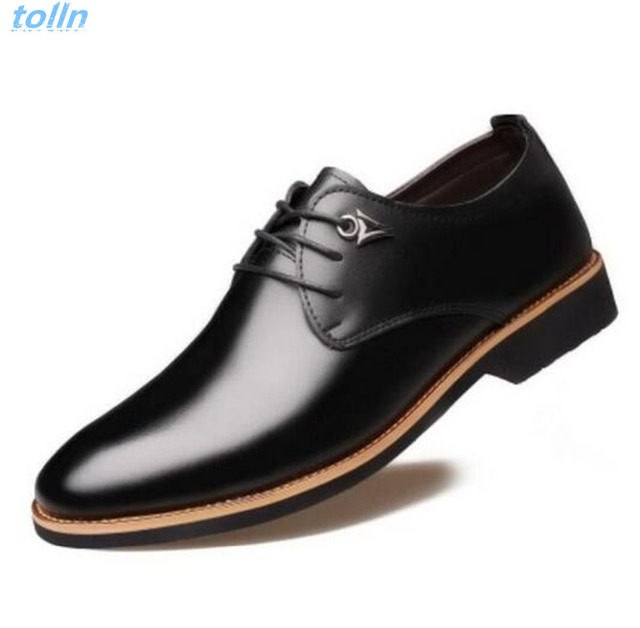 2017 Men Genuine leather Wedding dress Shoes,For Business Formal Flats,Luxury Style Men Shoes Spring Oxfords Male Formal Shoes