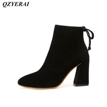 QZYERAI New ladies short boots super heels womens boots fashion womens shoes casual