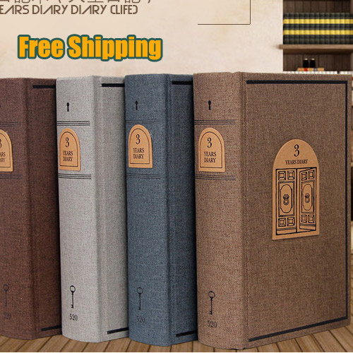 384 Pages New Vintage Memory Craft Notebooks Diary Notebook Thick