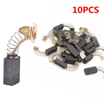 10Pcs Carbon Brushes Spare Parts Mini Drill Electric Grinder Replacement For Electric Motors Rotary Tool 6.5x7.5x13.5mm