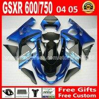 7 подарки для мотоциклов 2004 2005 SUZUKI мерцающий синий черный GSXR 600 750 зализа 04 05 к4 RIZLA версия gsxr600 GSX R750 RIJ 673