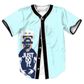 Hazlo Jersey Verano Estilo con botones de impresión 3d Hip Hop Streetwear hombres camisas tops casual camisa divertida tees