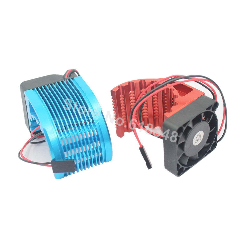 Power cnc 42mm heatsink with cooling fan for rc car parts for Electric motor parts suppliers