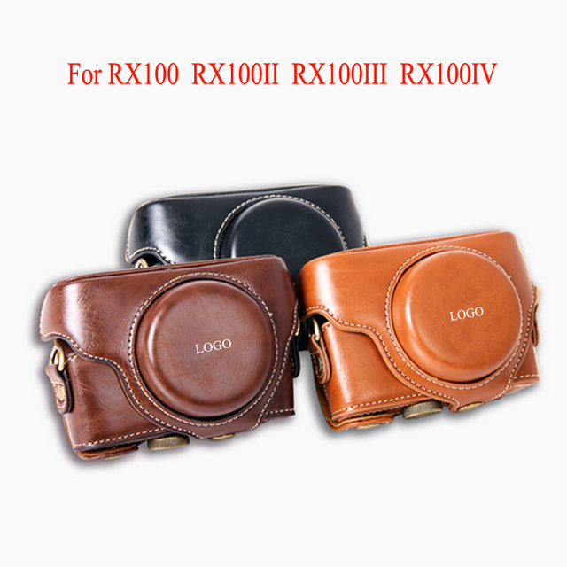 High quality PU Leather Case for Sony RX100 RX100II RX100M2 RX100 III IV M3 M4 Camera cover protective bag with Strap